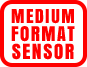 A variety of size designations indicating the physical dimensions of a digital camera sensor. For example, a Full Frame sensor is 36mm wide and 24mm high, creating a high image quality.