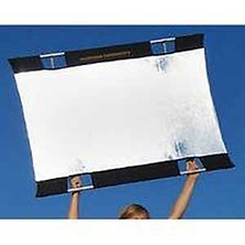 Sun-Bounce Mini 3 x 4' Kit With Frame, Silver/White Fabric and Bag Image 0