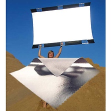 Sun-Bounce Pro 4' x 6' Silver,  White with Frame, Screen & Bag Image 0