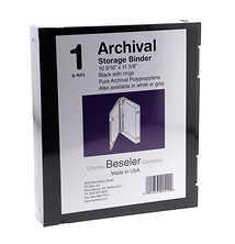 Besfile Archival Binder With Rings 11-5/8 x 10-1/4 in. Black Image 0