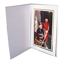 White Photo Folder 4x6 in. Image 0