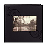 Embossed Leatherette Frame Photo Album, Leatherette Covers, Black Floral