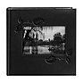 Embossed Leatherette Framer Photo Album, Black Ivy.