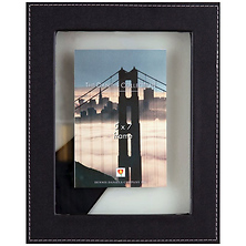 Leather Float 5x7 Ebony Photo Frame Image 0