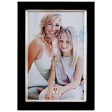 Leather Float 5x7 Chocolate Photo Frame Image 0