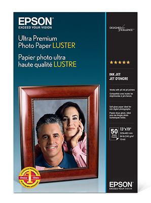 Ultra Premium Photo Paper Luster, 13 x 19in. - 50 sheets Image 0