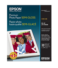 Premium Photo Paper Semigloss, 8.5 x 11in. - 20 sheets Image 0