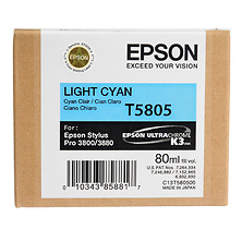 Light Cyan 80ml for Stylus Pro 3800 / 3880 Printer (T580500) Image 0