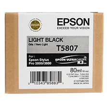 Light Black 80ml for Stylus Pro 3800 / 3880 Printer (T580700) Image 0