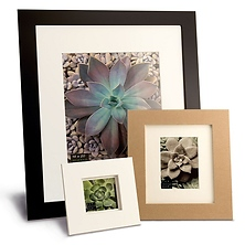 Metro 11 x 14 Seamless Composite Wood Board Frame Matted for 8 x 10 (Black) Image 0