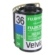 RVP Fujichrome Velvia 50 135-36 Professional Color Slide (Transparency) Film (ISO-50) - Single Roll Image 0