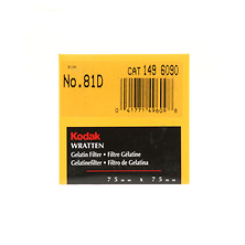 75mm 81D Light Balancing Wratten Gel Filter Image 0