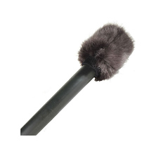Faux Fur Topper for Handheld Microphones (Black) Image 0