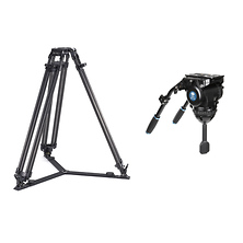 BCT-3203 Carbon Fiber Broadcast Video Tripod with BCH-30 Video Head Image 0