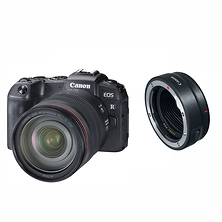 EOS RP Mirrorless Digital Camera with RF 24-105mm Lens, Mount Adapter EF-EOS R Image 0