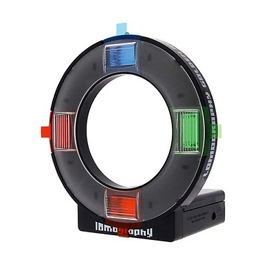Ringflash with Color Gels and Four Colored Rings Image 0