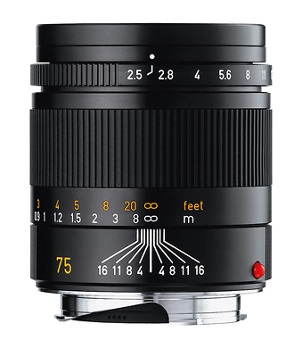 75mm f/2.5 Summarit-M Manual Focus Lens (Black) Image 0