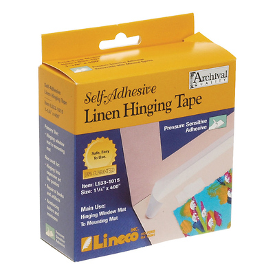 Linen Self-Adhesive Tape (1.25 In. x 35 ft. White) Image 0