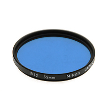 52mm B12 80B Color Conversion Glass Filter Image 0