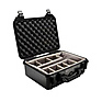 1450 Medium Watertight Hard Case with Padded Dividers (Black)