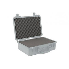 1500 Watertight Hard Case with Foam Insert - Silver Image 0
