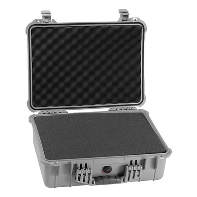 1520 Watertight Hard Case with Foam insert - Silver Image 0