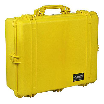 1600 Watertight Hard Case with Foam insert - Yellow Image 0