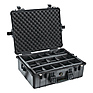 1600B Watertight King Hard Case with Padded Dividers - Black