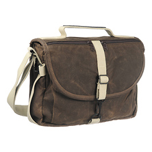 F-803 Waxwear Camera Satchel Shoulder Bag (Brown) Image 0