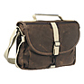 F-803 Waxwear Camera Satchel Shoulder Bag (Brown)