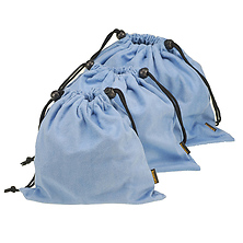 Microfiber Cleaning Pouch Light Blue 2.8 x 4.7 in. Image 0