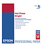 Hot Press Bright Smooth Matte Paper, 8.5 x 11in. (25 Sheets)