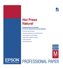 Hot Press Natural Smooth Matte Paper, 8.5 x 11in. (25 Sheets) Image 0