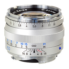 Ikon 50mm f/1.5 C Sonnar T* ZM Series MF Lens (Leica M-Mount) - Silver Image 0