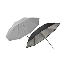 33 In. Two Piece Umbrella Set (Translucent, Silver) Image 0