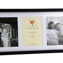 Wood Frame for 3 - 5 x 7 Photos; Mat - Ebony Image 0