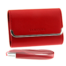 Slim Horizontal Leather Case (Red) Image 0