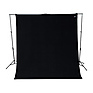 9 x 10 ft. Wrinkle-Resistant Cotton Backdrop (Rich Black)