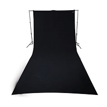 9 x 20 ft Wrinkle-Resistant Cotton Backdrop (Rich Black) Image 0