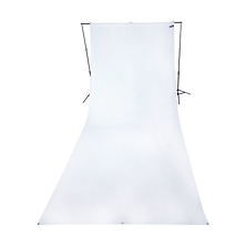 9 x 20 ft Wrinkle-Resistant Cotton Backdrop (Hi Key White) Image 0