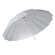 7ft White Diffusion Parabolic Umbrella Image 0