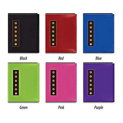 4x6 Metal Button Sewn Brag Photo Album (Assorted Colors) Image 0
