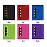 4x6 Metal Button Sewn Brag Photo Album (Assorted Colors)