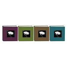 4x6 Natural Colors Memo Cloth Frame Photo Album (Assorted Colors) Image 0