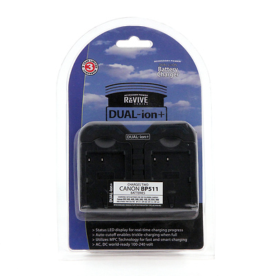 Pro Series ReVive Dual-ion+ Battery Charger for Canon BP-511 Image 0