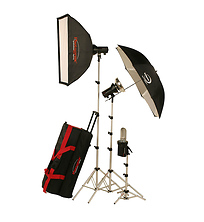 AKC850K StudioMax 800W/S Portrait Studio 3 Light Soft Box Kit Image 0