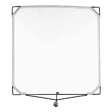 Solid Frame Scrim 48x48 In. White China Silk Image 0