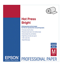 Hot Press Bright Archival Inkjet Paper (17in. x 50' Roll) Image 0