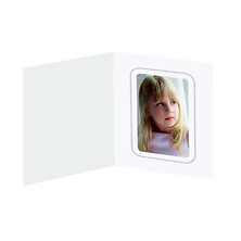 White 3x4 Vertical Folder (Each) Image 0