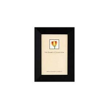 Angled Gallery Wood Molding Frame for a 8.5 x 11 In. Certificate or Photograph - Ebony Black Image 0